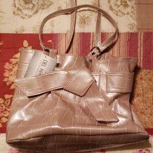 Del Mano handbag, champagne color, NWT